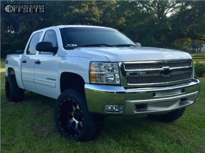 "2012 Chevrolet Silverado 1500 - 20x12 -44mm - Gear Off-Road Big Block - Suspension Lift 3.5"" - 33"" x 12.5"""