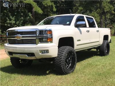 "2014 Chevrolet Silverado 1500 - 22x12 -44mm - Hostile Sprocket - Suspension Lift 6"" - 35"" x 12.5"""