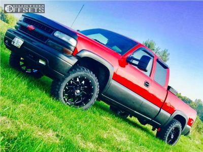 "1999 Chevrolet Silverado 1500 - 20x10 -24mm - Xf Offroad Xf-208 - Leveling Kit - 33"" x 12.5"""