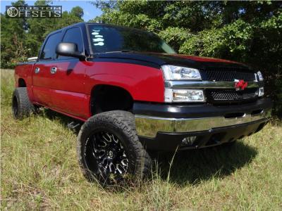 "2005 Chevrolet Silverado 1500 - 20x12 -44mm - Xf Offroad Xf-207 - Suspension Lift 6"" - 295/60R20"