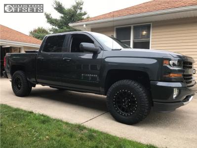 2017 Chevrolet Silverado 1500 - 17x8.5 0mm - Method Mesh - Leveling Kit - 285/70R17