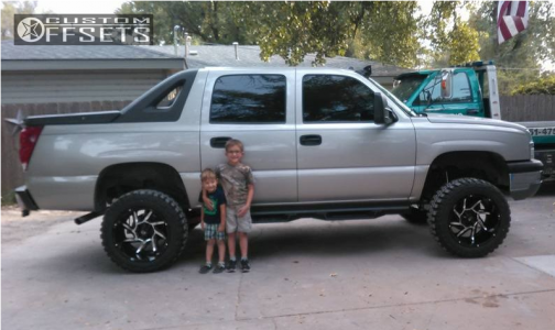 """2004 Chevrolet Avalanche - 20x12 -51mm - Vision Prowler - Suspension Lift 6"""" - 33"""" x 12.5"""""""
