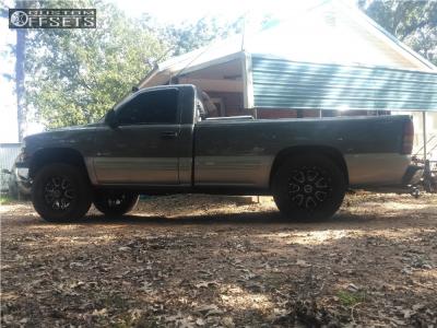"2000 Chevrolet K1500 - 20x9 15mm - Vision Fury - Suspension Lift 3"" - 35"" x 12.5"""