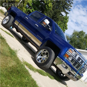 "2014 Chevrolet Silverado 1500 - 20x12 -44mm - Moto Metal Mo962 - Suspension Lift 3.5"" - 305/50R20"