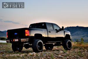 """2008 Chevrolet Silverado 2500 HD - 22x14 -76.2mm - Fuel Octane - Suspension Lift 9"""" - 325/50R22"""
