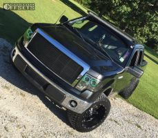 """2011 Ford F-150 - 20x12 -44mm - Fuel Hostage - Leveling Kit - 33"""" x 12.5"""""""