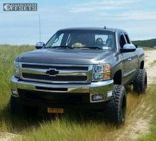 "2012 Chevrolet Silverado 1500 - 20x12 -44mm - Moto Metal MO962 - Suspension Lift 7.5"" - 35"" x 12.5"""