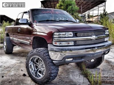 "2001 Chevrolet Silverado 1500 - 20x12 -44mm - Moto Metal Mo969 - Suspension Lift 6"" - 35"" x 12.5"""