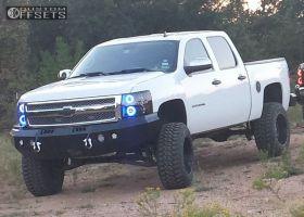"2013 Chevrolet Silverado 1500 - 20x12 -44mm - Red Dirt Road Dirt - Suspension Lift 7.5"" - 35"" x 12.5"""