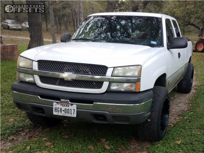 2004 Chevrolet Silverado 1500 - 20x12 -44mm - Fuel Hostage - Leveling Kit - 305/50R20