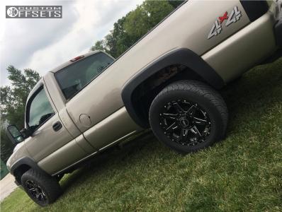 "2002 Chevrolet Silverado 2500 - 20x9 -12mm - Bmf Batl - Level 2"" Drop Rear - 275/55R20"