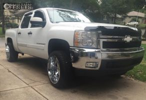 "2008 Chevrolet Silverado 1500 - 22x12 -44mm - Gear Off-Road Big Block - Suspension Lift 3"" - 33"" x 12.5"""