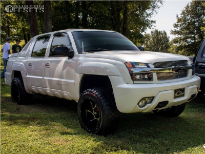 "2002 Chevrolet Avalanche - 20x12 -51mm - Vision Prowler - Suspension Lift 4"" - 33"" x 12.5"""