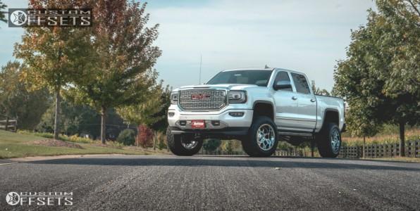 """2017 Chevrolet Silverado 1500 - 20x12 -44mm - Fuel Krank - Suspension Lift 6"""" - 35"""" x 12.5"""""""