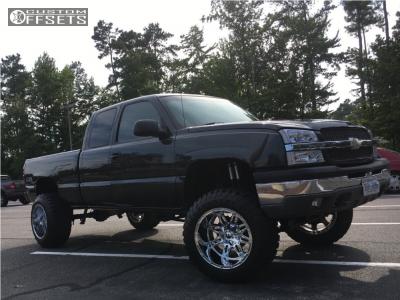 "2003 Chevrolet Silverado 1500 - 20x14 -76mm - Fuel Hostage D530 - Suspension Lift 6"" - 35"" x 12.5"""