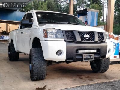"2004 Nissan Titan - 20x12 -38.1mm - Moto Metal Mo962 - Suspension Lift 6"" - 33"" x 12.5"""