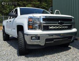 "2014 Chevrolet Silverado 1500 - 20x9 0mm - Xd Rockstar Ii - Leveling Kit - 33"" x 12.5"""