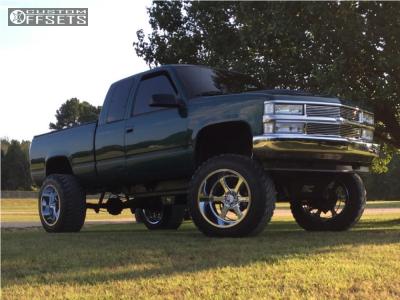 """1996 Chevrolet K1500 - 22x14 -76mm - Hostile Exile - Suspension Lift 6"""" & Body 3"""" - 37"""" x 13.5"""""""