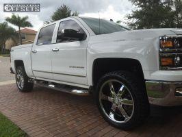 2014 Chevrolet Silverado 1500 - 22x9.5 18mm - Strada Spago - Leveling Kit - 285/45R22