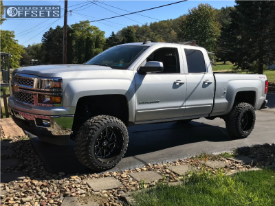"2015 Chevrolet Silverado 1500 - 20x12 -44mm - Hostile Sprocket - Suspension Lift 6.5"" - 33"" x 12.5"""