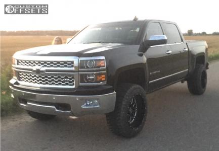 """2015 Chevrolet Silverado 1500 - 20x12 -44mm - Hostile Blaze - Leveling Kit - 33"""" x 12.5"""""""
