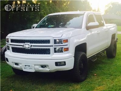 "2014 Chevrolet Silverado 1500 - 18x9 18mm - Monster Energy 535bm - Suspension Lift 5"" - 33"" x 12.5"""