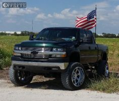 "2002 Chevrolet Silverado 2500 HD - 22x14 -76mm - Hostile Havoc - Suspension Lift 6"" & Body 3"" - 35"" x 12.5"""