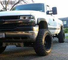 "2002 Chevrolet Silverado 2500 HD - 20x12 -44mm - Fuel Hostage - Suspension Lift 6"" - 35"" x 12.5"""