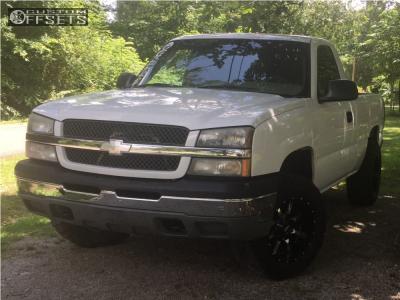 2003 Chevrolet Silverado 1500 - 18x10 -24mm - Moto Metal Mo970 - Leveling Kit - 275/65R18