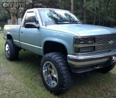 "1990 Chevrolet K1500 - 20x12 -44mm - Moto Metal Mo962 - Suspension Lift 6"" - 35"" x 12.5"""