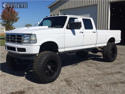 "1996 Ford F-350 - 20x12 -44mm - Fuel Octane - Suspension Lift 8"" - 40"" x 15.5"""