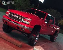 "2006 Chevrolet Silverado 1500 - 20x12 -44mm - Moto Metal Mo962 - Suspension Lift 7.5"" - 35"" x 12.5"""