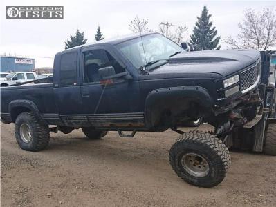 "1994 Chevrolet K1500 - 15x10 -47mm - Raceline Rockcrusher - Suspension Lift 7"" & Body 3"" - 35"" x 12.5"""