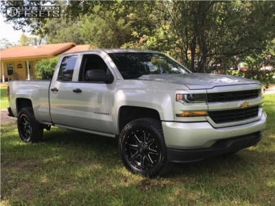 2016 Chevrolet Silverado 1500 - 20x9 1mm - Fuel Maverick - Leveling Kit - 285/65R20