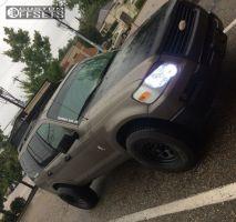 2006 Ford Explorer - 16x8 13mm - Black Rock 997 - Stock Suspension - 265/75R16