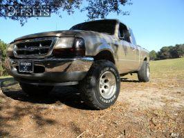 """2000 Ford Ranger - 15x10.5 -12mm - Pacer 164p lt - Body Lift 3"""" - 32"""" x 11.5"""""""