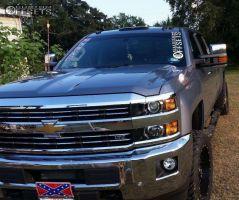 "2015 Chevrolet Silverado 2500 HD - 20x10 -12mm - Fuel Nutz - Leveling Kit - 33"" x 12.5"""