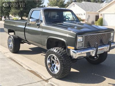 "1985 Chevrolet K20 - 20x12 -44mm - Moto Metal Mo962 - Suspension Lift 4"" - 35"" x 12.5"""