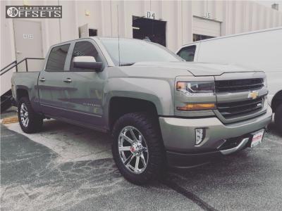 """2017 Chevrolet Silverado 1500 - 20x9 -12mm - Havok H107 - Leveling Kit - 33"""" x 12.5"""""""