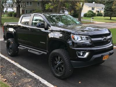 "2017 Chevrolet Colorado - 20x9 0mm - Red Dirt Road 01 - Suspension Lift 5"" - 285/55R20"