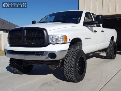 "2005 Dodge Ram 2500 - 20x12 -44mm - Ballistic Rage - Suspension Lift 4.5"" - 35"" x 12.5"""