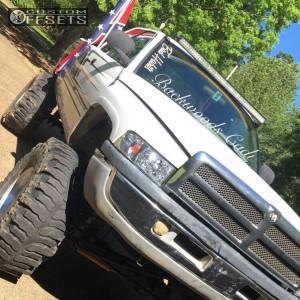 "2001 Dodge Ram 1500 - 22x11 -44mm - XD Badlands - Lifted >12"" - 40"" x 18.5"""