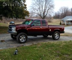 """1995 Chevrolet Silverado 1500 - 20x9 -12mm - Bazo B502 - Suspension Lift 6"""" - 35"""" x 12.5"""""""
