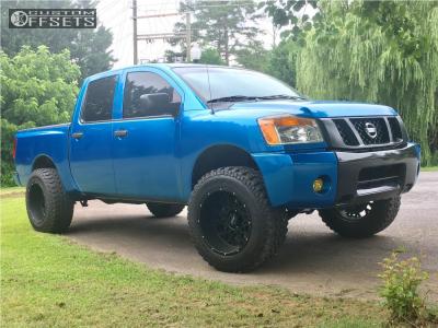 "2011 Nissan Titan - 20x12 -51mm - Vision Rocker - Leveling Kit - 35"" x 12.5"""