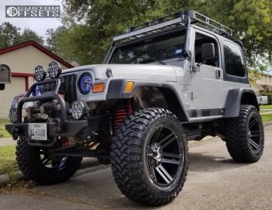 "2000 Jeep Wrangler - 20x10 -25mm - Toxic Avenger - Suspension Lift 6"" - 35"" x 13.5"""