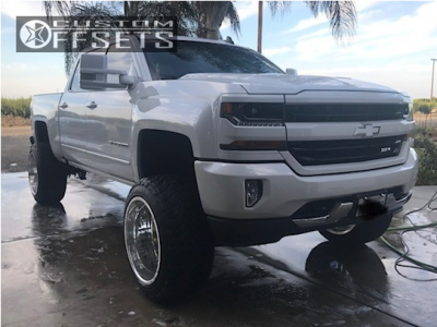 "2017 Chevrolet Silverado 1500 - 22x14 -73mm - American Force Liberty Ss - Suspension Lift 8"" - 35"" x 12.5"""