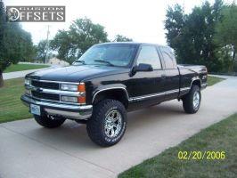 "1997 Chevrolet Silverado 1500 - 17x9 -6mm - Pro Comp 6031 - Suspension Lift 3"" - 275/70R17"