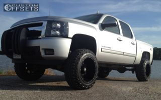 "2010 Chevrolet Silverado 1500 - 20x12 -44mm - Mayhem Chaos - Suspension Lift 7.5"" - 35"" x 12.5"""