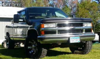 "1997 Chevrolet K1500 - 16x8 -6mm - Incubus Poltergeist - Air Suspension - 33"" x 10.5"""