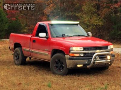 2000 Chevrolet Silverado 1500 - 16x8 -13mm - Tuff T01 - Stock Suspension - 265/75R16